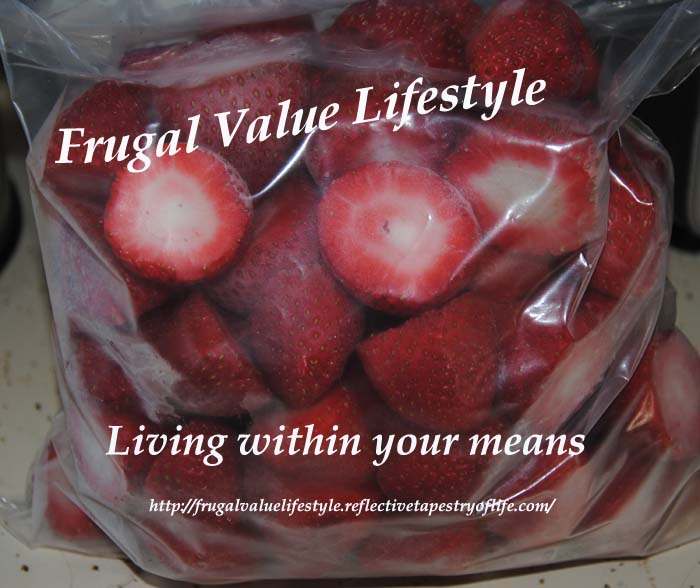 Frugal Value Living Freezing Strawberries 1