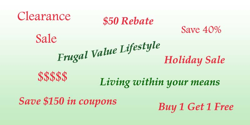 Sales are Abundant Frugal Value Living